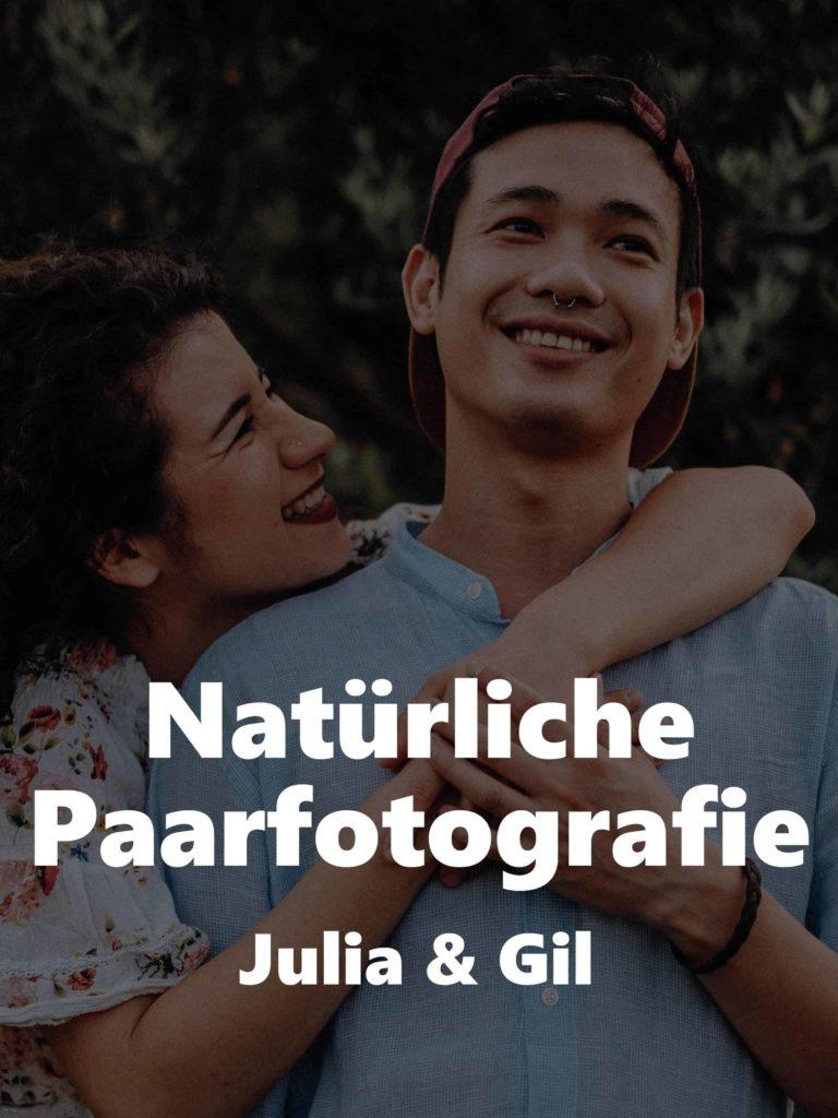 Natürliche Paarfotografie – Julia und Gil